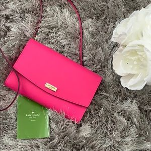 Kate Spade hot pink wallet/crossbody